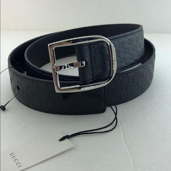 Gucci mens belt black NWT